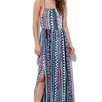 Some Days Lovin Liar Liar Printed Maxi Dress - Womens Dress - Multi