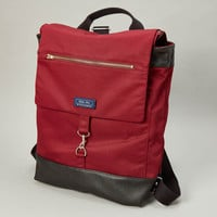 Cranberry Red Canvas Twill Backpack