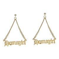 Homegirl Nameplate Earrings