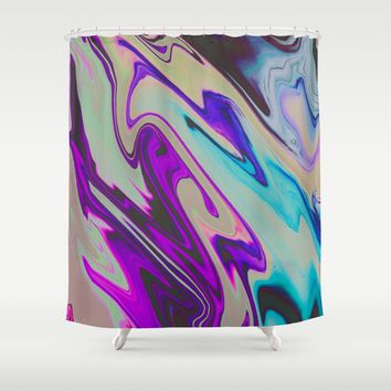 Tear Blinded Eyes Shower Curtain by duckyb