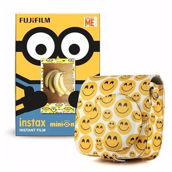 FUJIFILM INSTAX MINI Minions film  for SP1 SP2 70 25 90 7s 50 lomo  plus instant 8 9 Camera case