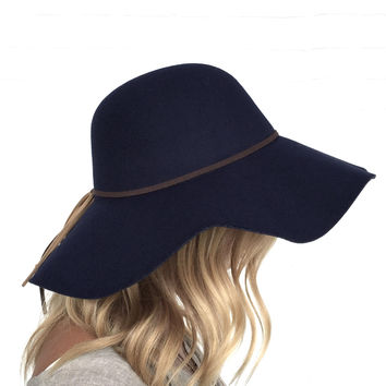 Getting Heated Wool Floppy Hat In Navy from Dainty Hooligan d5b2222bd279
