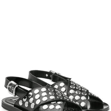 Embellished Leather Sandals - McQ Alexander McQueen | WOMEN | US STYLEBOP.COM