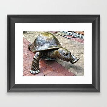 The Tortoise 2 Framed Art Print by lanjee