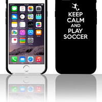 Keep calm and play soccer 5 5s 6 6plus phone cases