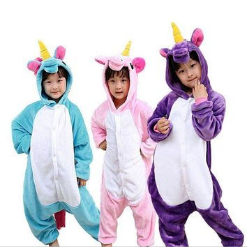 ONETOW Children Unisex Unicorn Tenma Onesuit Kids Girls Boys Cosplay Animal Pajamas Sleepwear Halloween Christmas Costumes