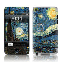 Apple iPod Touch 4G Decal Skin  Starry Night by skunkwraps on Etsy
