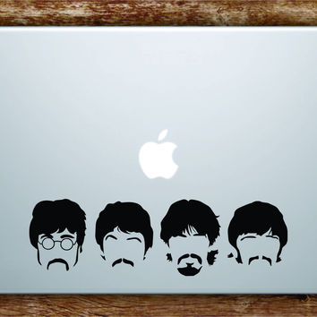 The Beatles Faces Laptop Decal Sticker Vinyl Art Quote Macbook Apple Decor Music John Lennon Paul McCartney