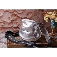 BALENCIAGA WOMEN'S 2018 HOT STYLE LEATHER INCLINED SHOULDER BAG