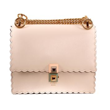 Fendi Cream Leather Shoulder Bag