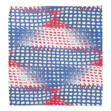 Red White and Blue Crocheted Look on Bandana