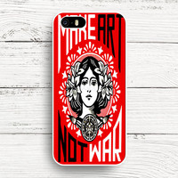 iPhone 4s 5s 5c 6s Cases, Samsung Galaxy Case, iPod Touch 4 5 6 case, HTC One case, Sony Xperia case, LG case, Nexus case, iPad case, Obey make art not war Cases