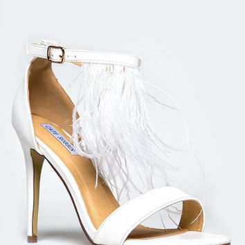 FEATHER ANKLE STRAP SANDAL