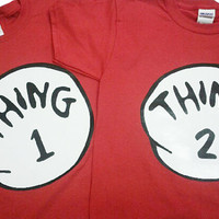 Thing 1 and Thing 2 shirts. Listing for 1 shirt. You pick size and Number/Name.