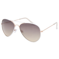 Full Tilt Fast Lane Aviator Sunglasses White One Size For Women 25587315001