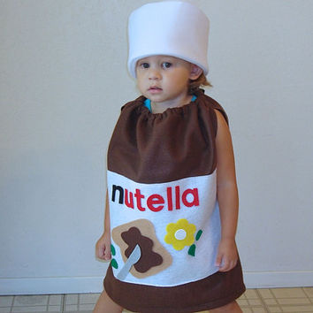 Baby Nutella Costume Halloween Toddler Infant Costume Photo Prop Hazelnut