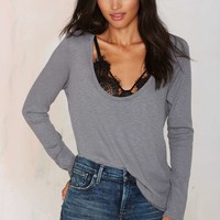 New Low Waffle Top - Gray