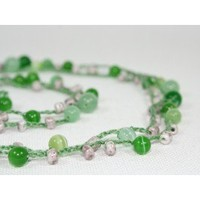 Mint bubles crocheted necklace - Crocheted Jewelry - Everyday Jewelry  :: Nes Jewelry and Art