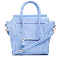 DailyLook: DAILYLOOK Mini Structured Handbag in Periwinkle