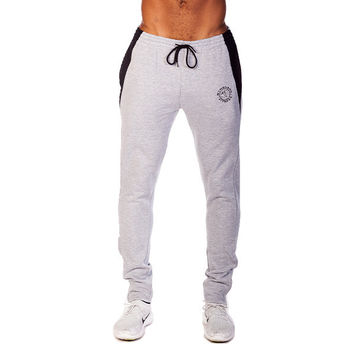 GymShark Luxe Fitted Bottoms Grey/Black Mens bottoms | GymShark International | Innovation In Fitness Wear