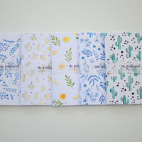 Indigo Wildflower: A5 and A6 Size Sketchbook and Notebook, Handmade Sketchbook, Journal, Gifts For Stationery Addicts, Blank Lined Notebook