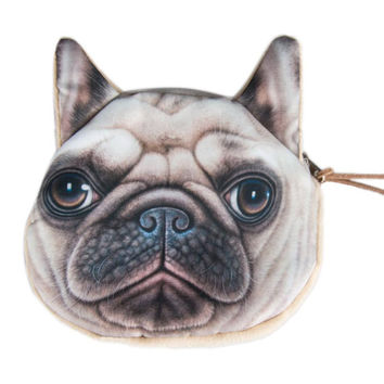 Bulldog Face Coin Purse