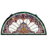 SheilaShrubs.com: Lady Astor Demi-Lune Stained Glass Window HD464 by Design Toscano: Stained Glass