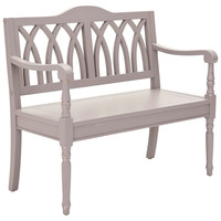 Jasper Bench, Moon Gray, Entryway Bench, Bedroom Bench