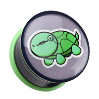 Detective Turtle Single Flared Ear Gauge Plug