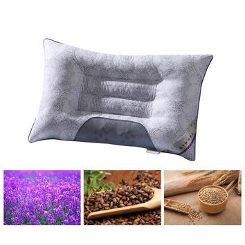 Semi-magnetic Cassia Pillow Buckwheat Orthopedic Breathable Picture Cervical Health As Lavender Neck