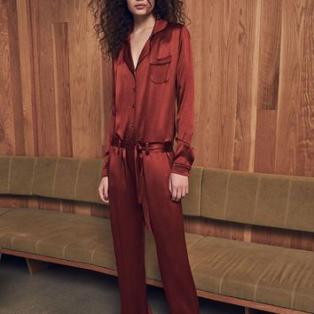 Alexis Gilda Jumpsuit in Rust