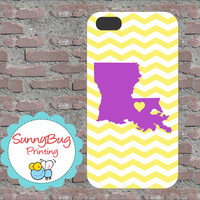 Louisiana State Love Iphone 4, 4s, 5 and Samsung 3 and 4 Cases!-