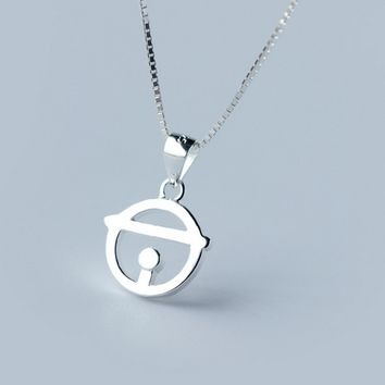 Lovely small bell 925 sterling silver necklace, a perfect gift