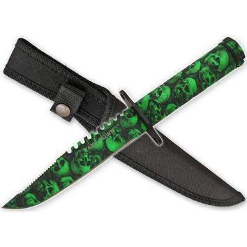 SALE ZOMBIE Skull Camo Survival Knife HG690CM13