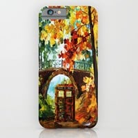 starry Abandoned phone box Under the bridge iPhone 4 4s 5 5c 6, pillow case, mugs and tshirt iPhone & iPod Case by Three Second