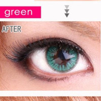 Royal Vision Love Color Green Circle Lenses Colored Contacts Cosmetic Color Circle Lens
