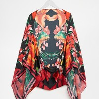 Ted Baker Tropical Toucan Scarf Cape