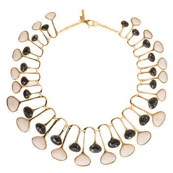 LeLe Sadoughi Meteor Shower Necklace - Black and White Necklace - ShopBAZAAR