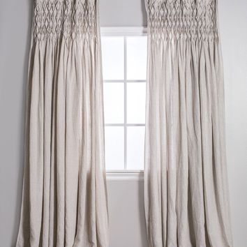 Flax Smocked Curtains