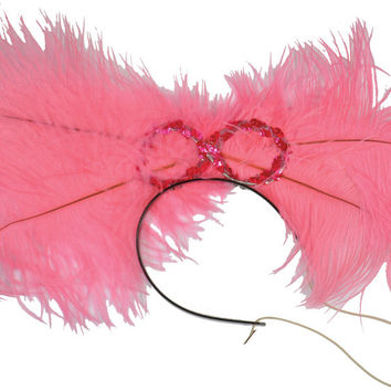 costume accessory: dance hall headpiece deluxe | pink