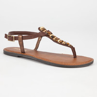 Soda Akita Womens Sandals Brown  In Sizes