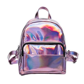 woman backpack leather small backpacks for teenage girls School bags Travel Shoulder Bag #6M