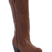 Western Flair Faux Leather Boots GoJane.com