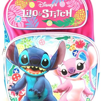 "New Licensed Disney Lilo and Stitch 14"" Girls/Boys Large School Backpack"