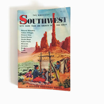 Vintage, Golden, Guidebook, Southwest, United States, Regional Guide, Pocket Guidebook