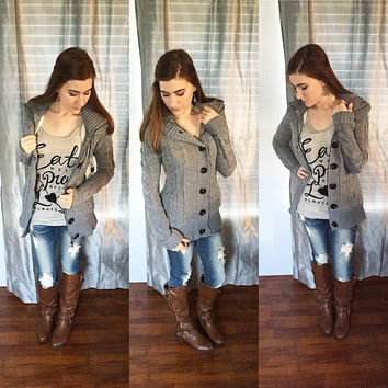 Winter Weather Hooded Sweater
