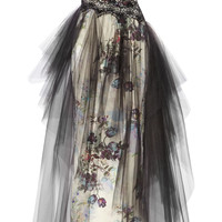 Notte by Marchesa - Floral-print tulle and faille gown