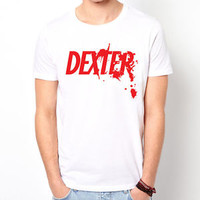 DEXTER Serial Killer TV show white t-shirt