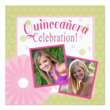 Quinceanera Party Invitation | Pink