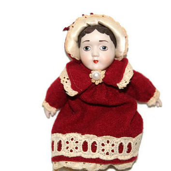 Hallmark Ornament - 1983 - Diana - Vintage Ornament - Doll Ornament - Stocking Stuffer - Collectible - Porcelain Doll - 1983 - Diana Doll